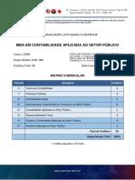 Matriz MBA em Contabilidade Aplicada ao Setor Público
