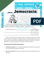 Ficha Que Es Democracia Para Cuarto de Primaria