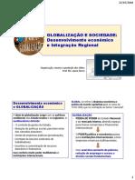 Socio 5 - Slides Globalização desenvolvimento e integração regional - Prof Jeane