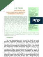 Characteristics of Religios Fundamentalism
