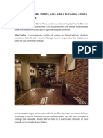 reseña ingles Restaurante Hotel Deliza