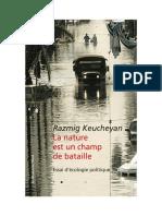Razmig Keucheyan - La Nature Est Un Champ de Bataille-La Découverte (2018)