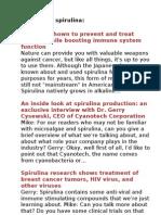 Articles on spirulina