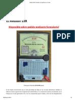 Medidor ESR _ Medidor de capacitores en circuito. Tabla de valores