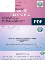 Cambio climatico tema de  insvestigacion