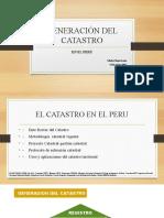 Generacion Del Catastro en El Peru