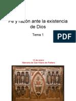 1. Fe y razón ante la existencia de Dios