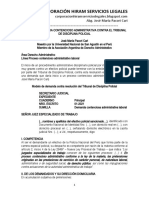 Modelo Demanda Contra El Tribunal de Disciplina Policial - Autor José María Pacori Cari