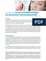 Elektronische Handtekeningen en Duurzame Betrouwbaarheid