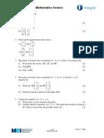 Vectors Integral Topic Assessment
