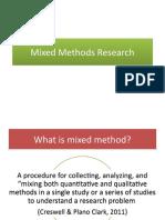 Mixed methods designs