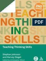 Teaching Thinking Skill