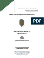MANUAL DE INSTRUCCIONES FILTROS