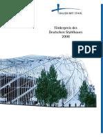 Stahlbau Förderpreis 2008