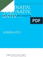 Nominativ, akkusativ, dativ…