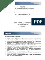 EE218 - 03 - Roteamento IP