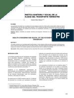 Problematica Sanitaria y Social de La Accidentabilidad Del Transporte Terrestre. Tema 5