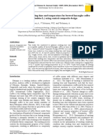 Ethiopia. Optimization of Roasting Time and Temperature for Brewed Hararghe Coffee (Coffea Arabica L.) Using Central Composite Design