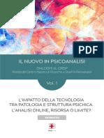 Estratto Rivista Cirsp Vol. 1 - Il nuovo in psicanalisi