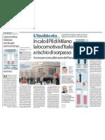 IN CALO IL PIL DI MILANO LA LOCOMOTIVA D'ITALIA A RISCHIO DI SORPASSO (LA REPUBBLICA)