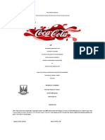 Project report on coca cola