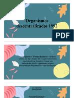 Organismos descentralizados 1992-Gloribell-Cervantes