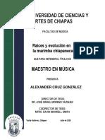 TESIS_CRUZ, ALEXANDER. (2020). Raíces y Evolución en La Marimba Chiapaneca. Unicach