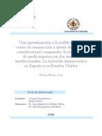 Una Aproximacion a La Politica de Los Costes de Transaccion a Traves Del Analisis Constitucional Comparado La Regulacion de Medicamentos en Dos Ambitos Institucionales La Industria Farmaceutica en Espana y en Estad