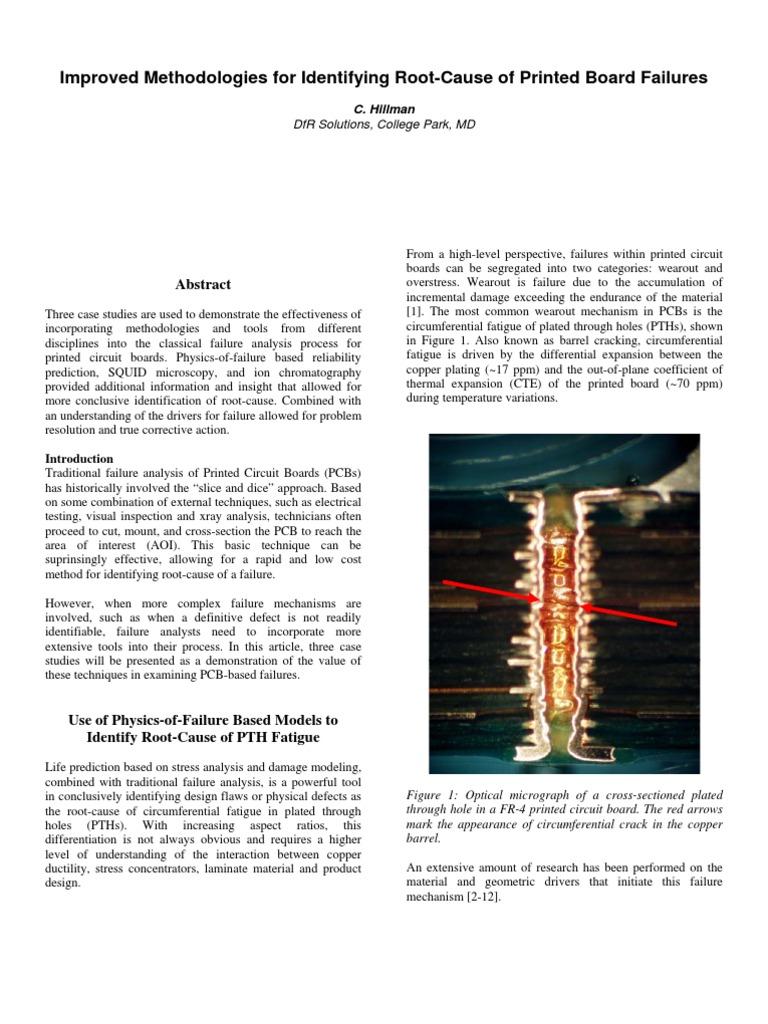 2004 PCBRootCause Hillman | Electrical Breakdown | Printed