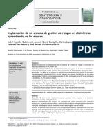 Implantacion de un sistema de gestion de riesgos en obstetricia
