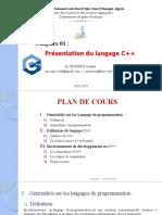 Chap 01-Présentation Du Langage C++