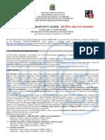 Edital PPGL - Programa de Pós Graduação em Letras