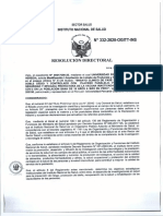 RESOLUCIÓN DIRECTORAL N° 332-2020-OGITT-INS