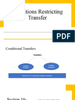 Conditions Restricting Transfer