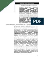Denuncia Constitucional contra Martín Vizcarra, Pilar Mazzetti y Elizabeth Astete