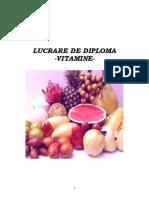 LUCRARE DE DIPLOMA-VITAMINELE - PURCEL
