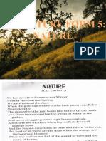 Literature Form 5-NATURE (Sek Seni Johor Bahru)
