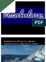 Presentation 1 Vocab