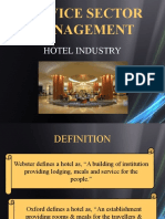 7 p's of servicesector with respect to hotel industry