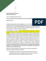 [_Modelo_] Autorización ante el Centro de Logistica y Transporte