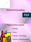 Demand forecasting with all methods