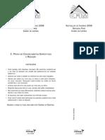 UFTM - 2008 - 2ª Fase - Letras