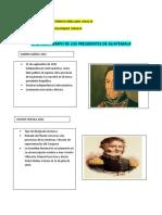LINEA DEL TIEMPO PRESIDENTES DE GUATEMALA