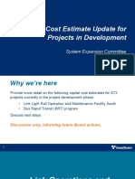 Sound Transit - Capital Cost Estimates Update Presentation - OMFS and BRT Projects