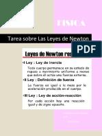 Tarea sobre Las Leyes de Newton