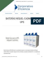 1.- BATERIAS NIQUEL CADMIO