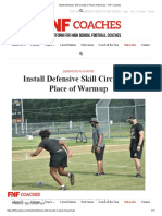 Install Defensive Skill Circuits in Place of Warmup – FNF Coaches