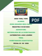 Problema de Investigacion Cuantitativa - Rodis Edgardo Meza Garay