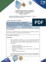 Guía de actividades y rúbrica de evaluación - Unidad 1 - Tarea 2 - Abstraer la información del entorno