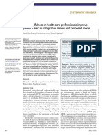 Can mindfulness in health care professionals improve patient care An integrative review and proposed model.